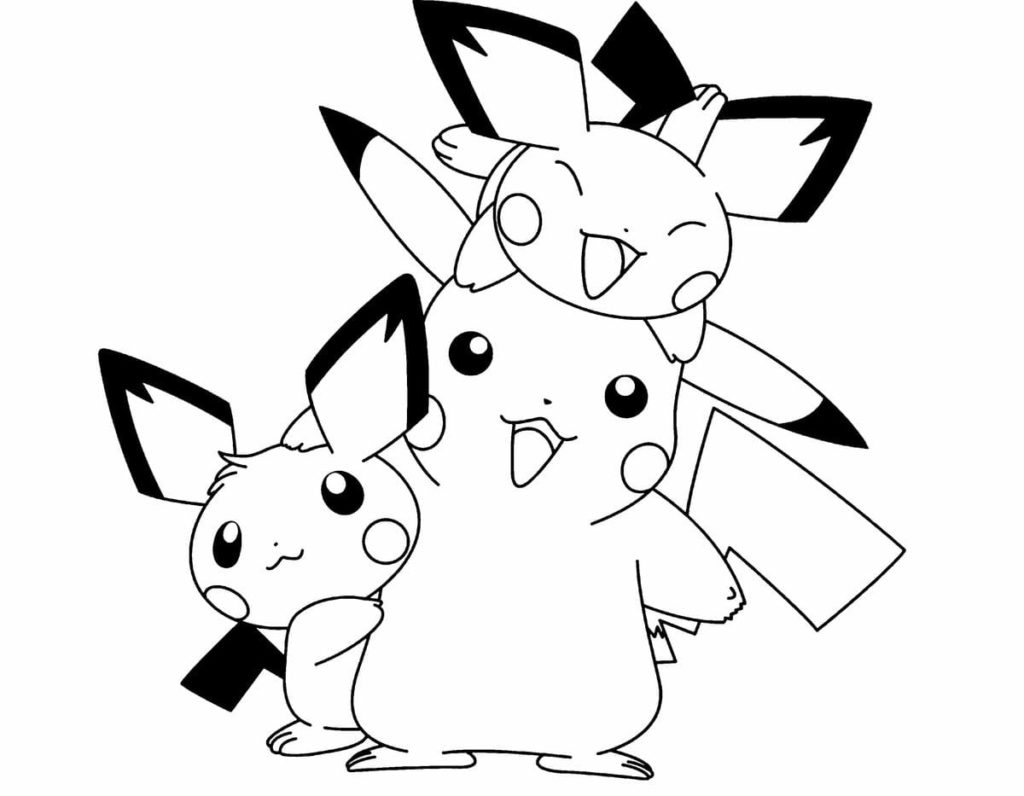 picachu coloring pages free printable pikachu coloring pages coloring junction pages coloring picachu