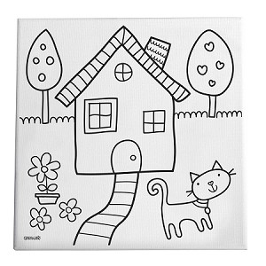 picture for kid painting home sweet home canvas painting art set for kids painting kid for picture
