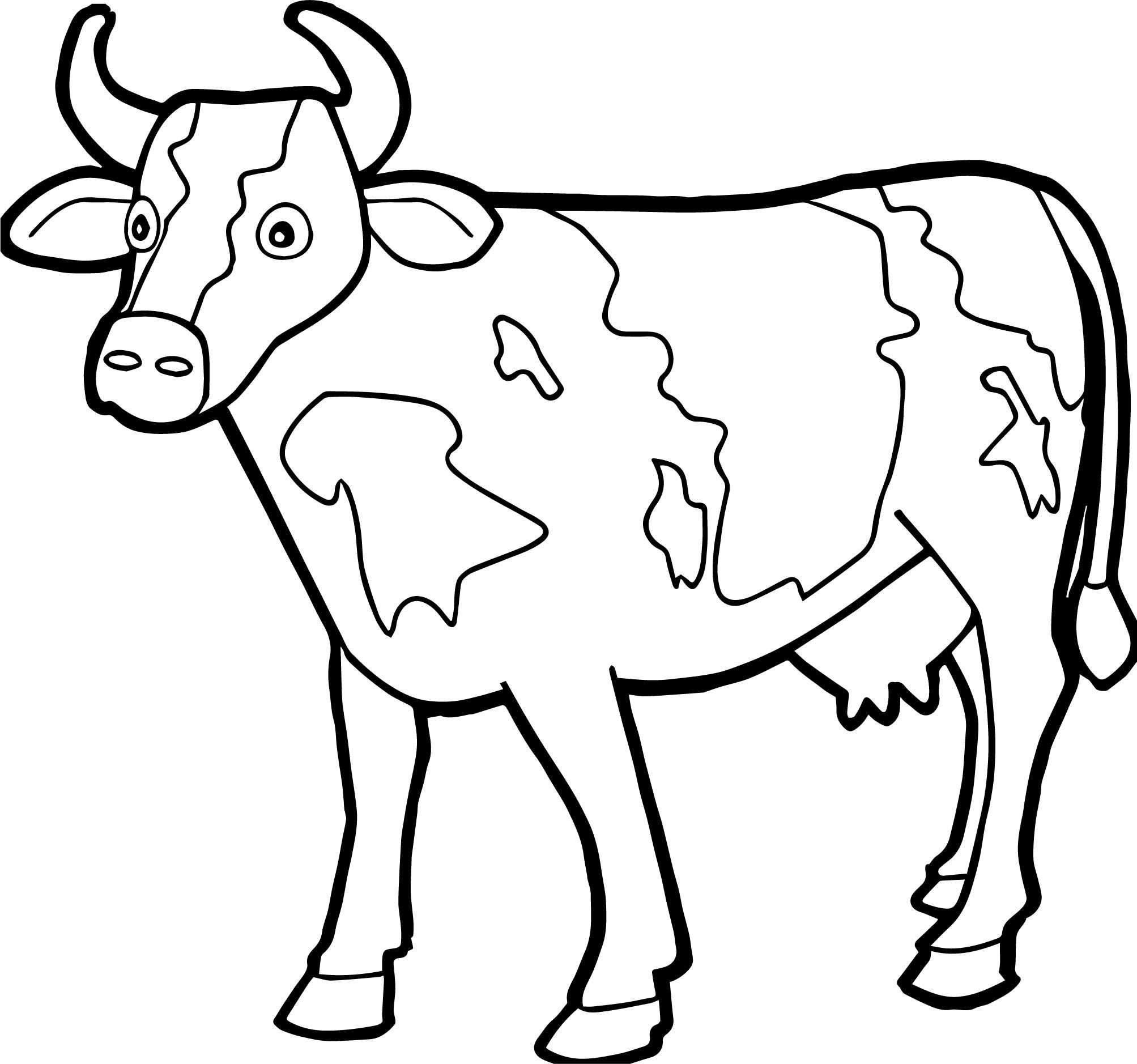 picture of a cow to colour cow coloring pages free printable coloring home to colour of picture a cow