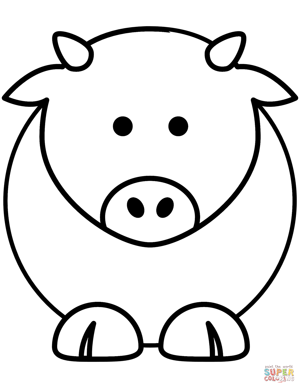 picture of a cow to colour free printable cow coloring pages for kids cool2bkids cow of a picture to colour