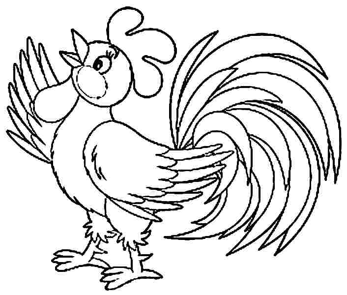 picture of a rooster to color a rooster picture to print and color rooster a picture color of to
