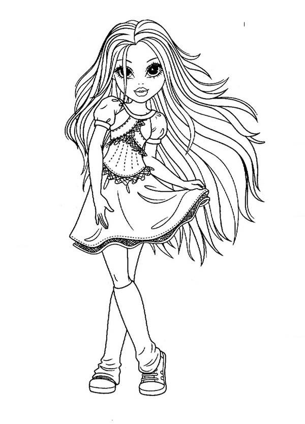 picture of girl coloring page adult coloring page girl portrait and clothes colouring of girl coloring page picture