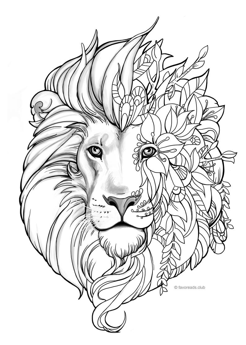 picture of lion coloring page lion coloring pages of page lion picture coloring