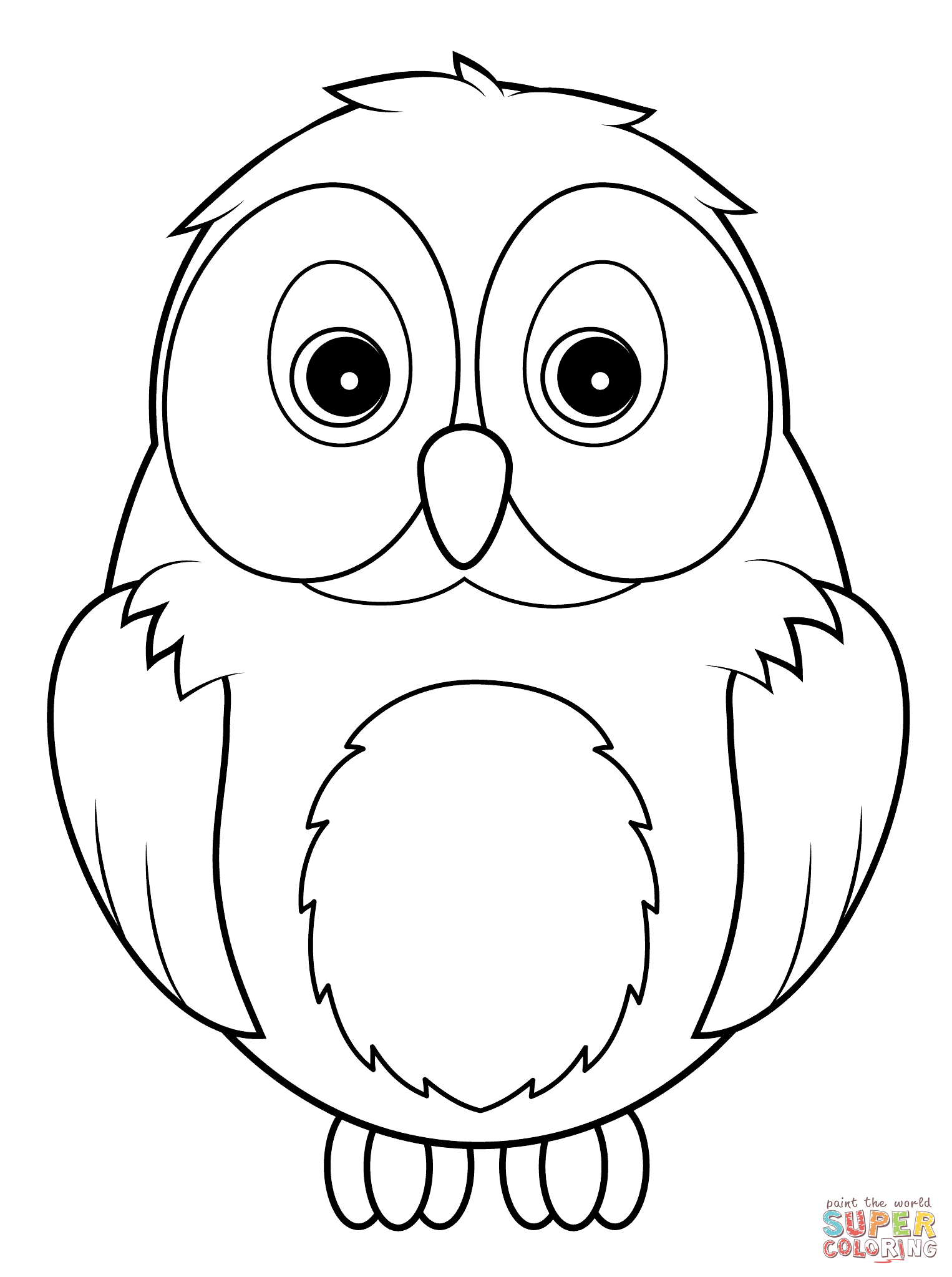 picture of owls to color free printable owl coloring pages for kids animal place to picture color owls of