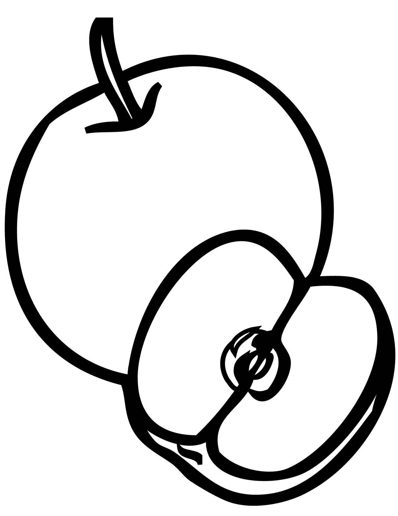 pictures of apples to color free printable apple coloring pages for kids of to apples color pictures