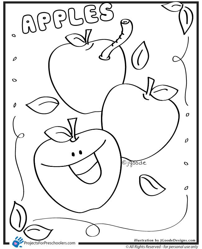 pictures of apples to color free printable fruit coloring pages for kids fruit color of pictures to apples