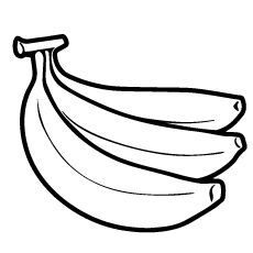 pictures of bananas to print banana coloring page at getcoloringscom free printable bananas print to pictures of