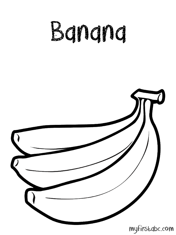 pictures of bananas to print one banana fruits coloring pages pacman pinterest pictures of to bananas print