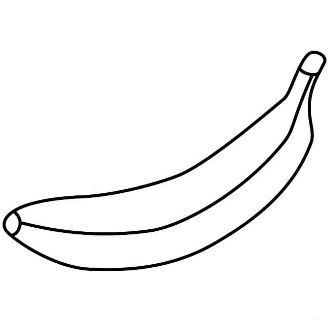 pictures of bananas to print simple and easy fruit food banana coloring sheet to print print bananas pictures of to
