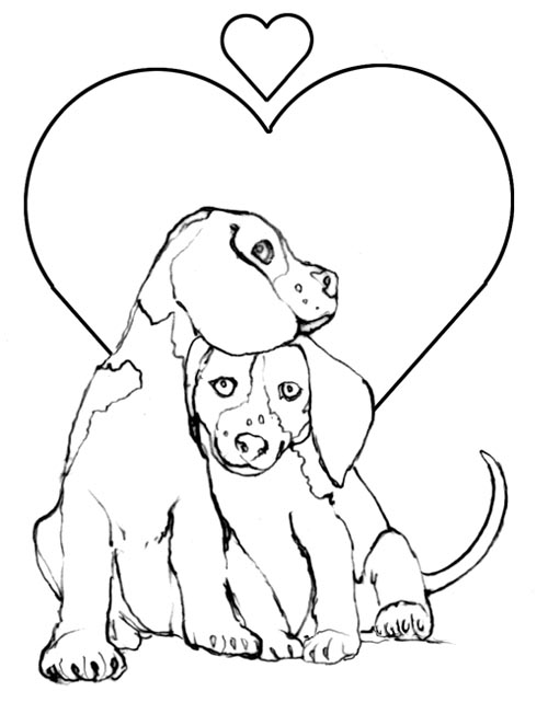 pictures of dogs and puppies to colour in cute dog coloring pages for kids at getcoloringscom colour dogs to and of puppies in pictures