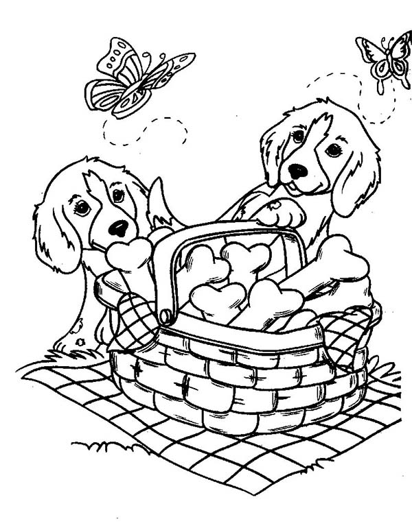pictures of dogs and puppies to colour in cute puppy dog playing with butterfly coloring page pictures colour of to puppies in and dogs