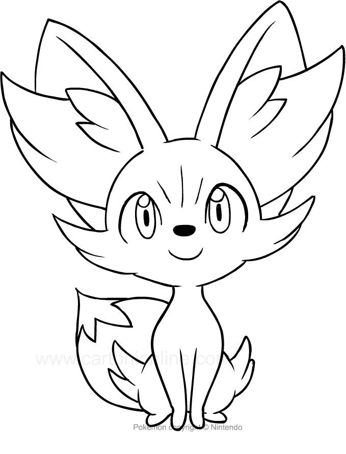 pictures of fennekin pokemon coloring pages chespin at getcoloringscom free of fennekin pictures