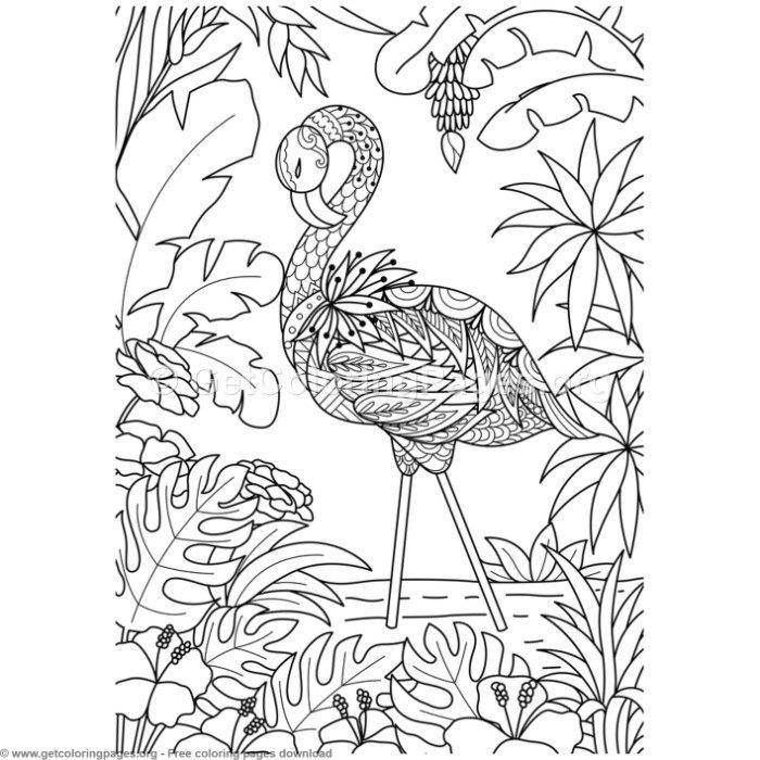 pictures of flamingos to color 4 zentangle flamingo bird coloring pages to of flamingos pictures color