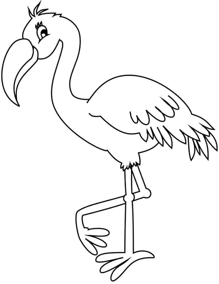 pictures of flamingos to color cute flamingo coloring pages for kids pictures of flamingos color to