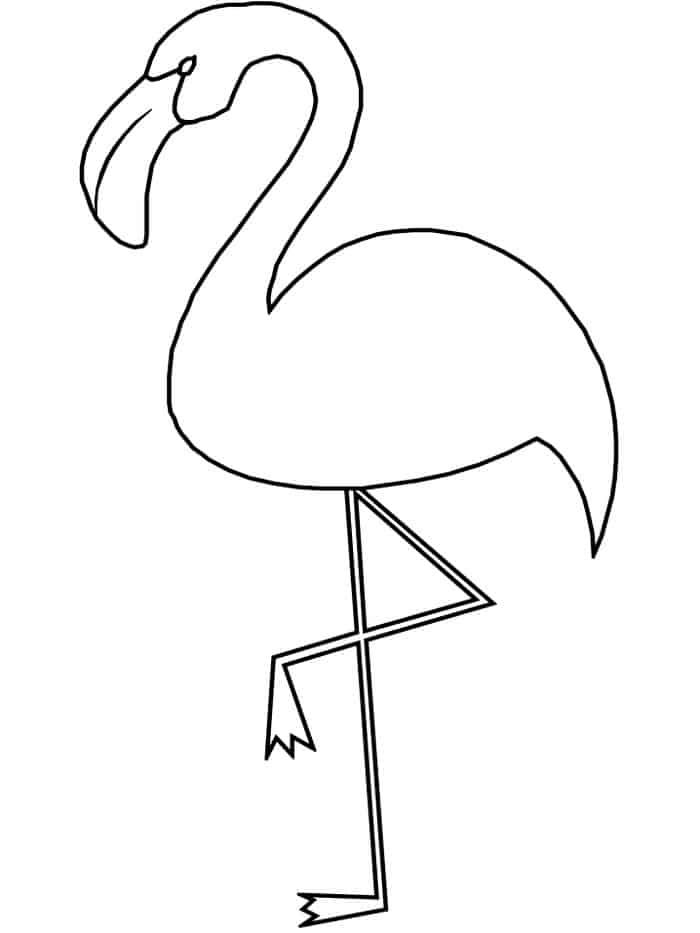 pictures of flamingos to color simple flamingo coloring pages from cute flamingo coloring to color flamingos pictures of