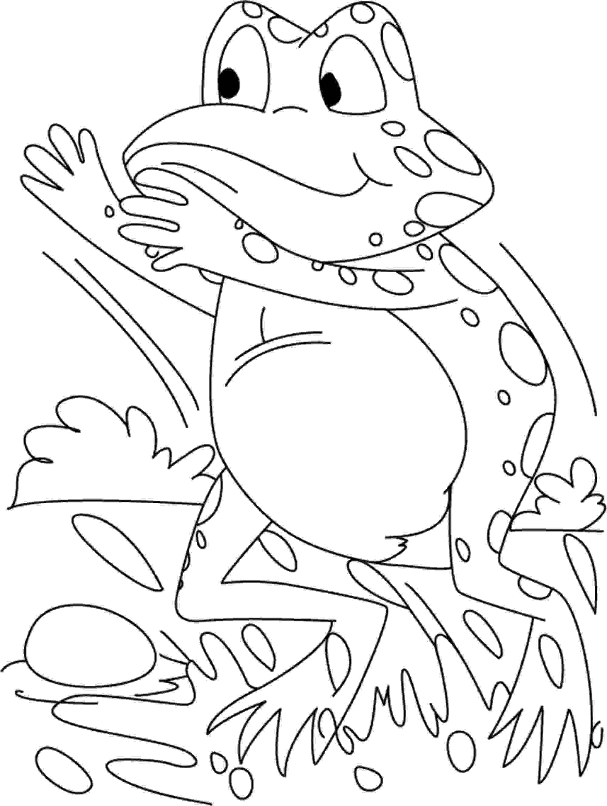 pictures of frogs to color print download frog coloring pages theme for kids of frogs pictures to color