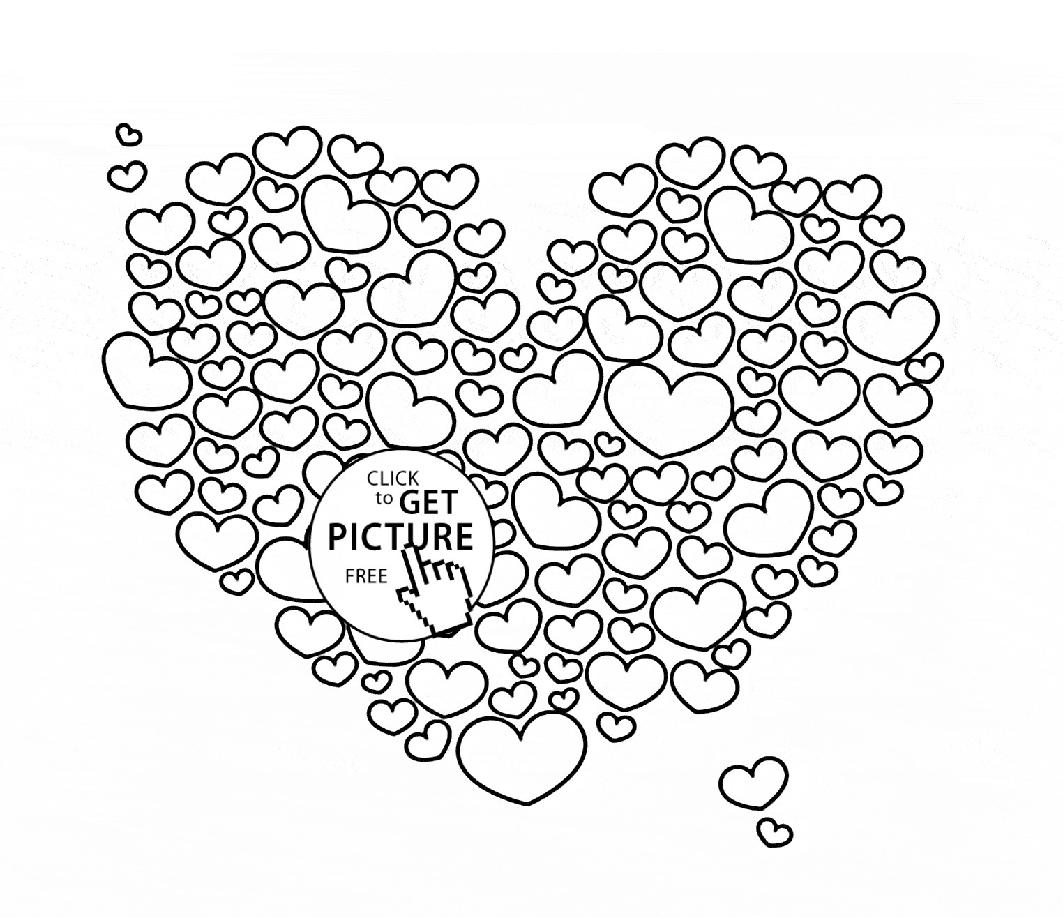 pictures of hearts to color big heart coloring pages at getcoloringscom free to color hearts pictures of