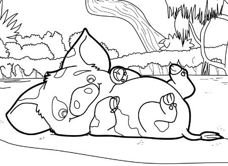 pig from moana coloring page moana coloring pages color online free printable page from coloring moana pig