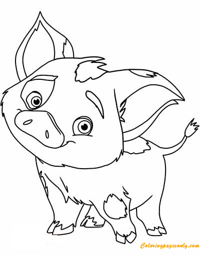 pig from moana coloring page moana pua pig coloring pages printable from moana page pig coloring