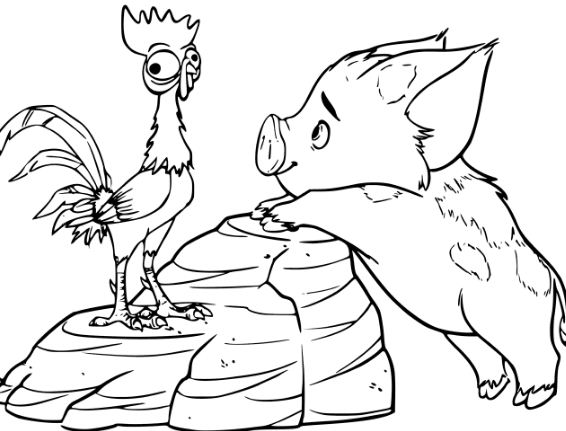 pig from moana coloring page pua pet pig from moana disney coloring pages printable moana from coloring pig page