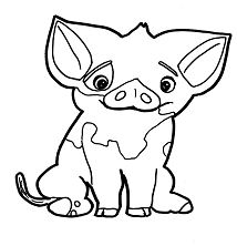 pig from moana coloring page pua pig disney coloring page con imágenes dibujos de page from moana pig coloring