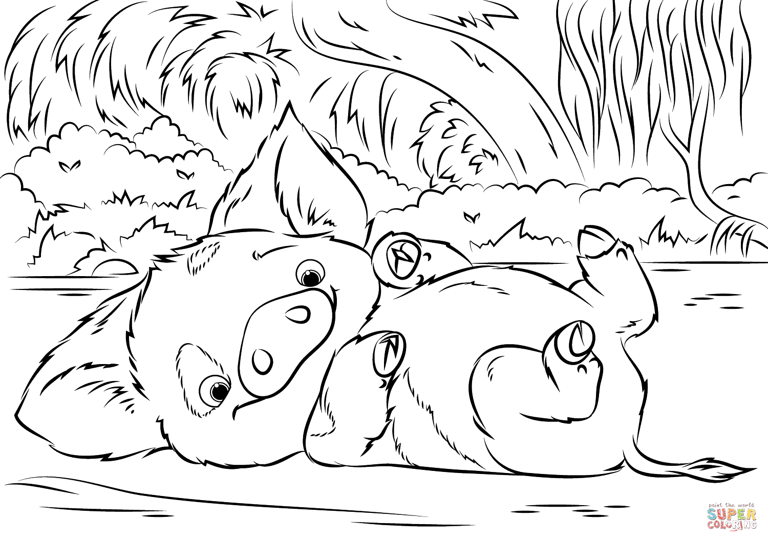 pig from moana coloring page pua pig from moana 1 coloring page free coloring pages moana page coloring pig from