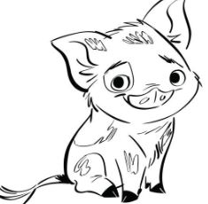 pig from moana coloring page pua pig from moana 4 coloring page free coloring pages from page moana pig coloring