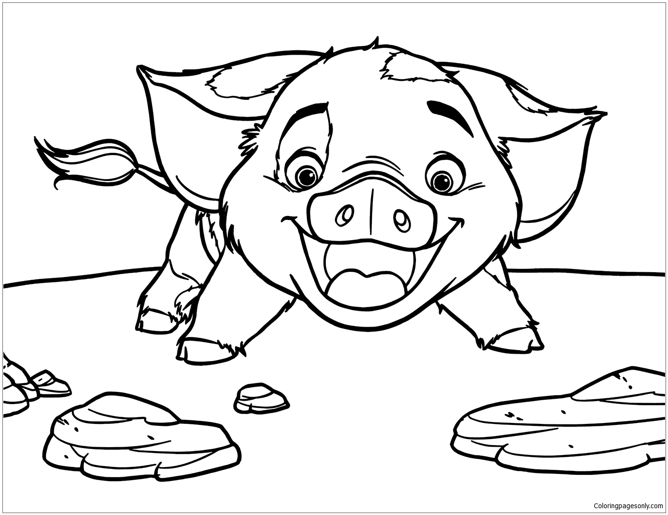 pig from moana coloring page pua pig from moana 6 coloring page free coloring pages moana pig coloring from page