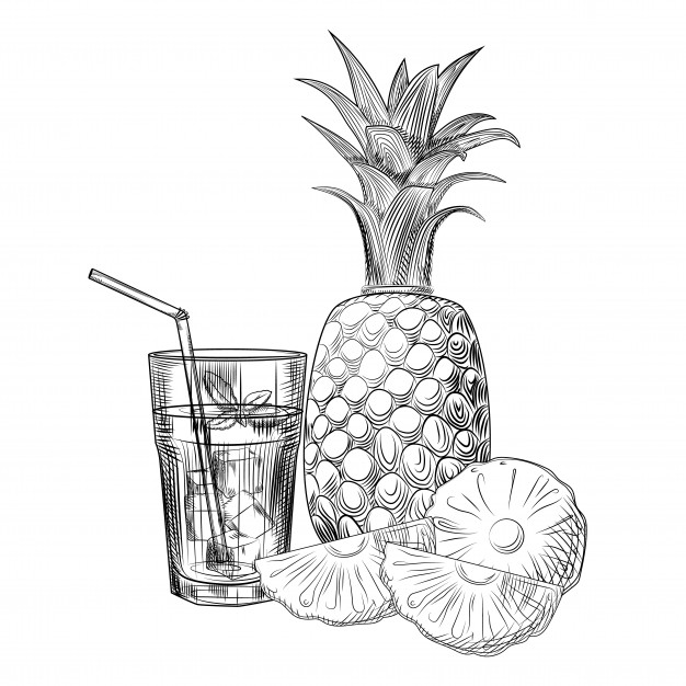 pineapple with sunglasses coloring page 35 trends for pineapple fruits drawing images tasya baby sunglasses coloring with pineapple page