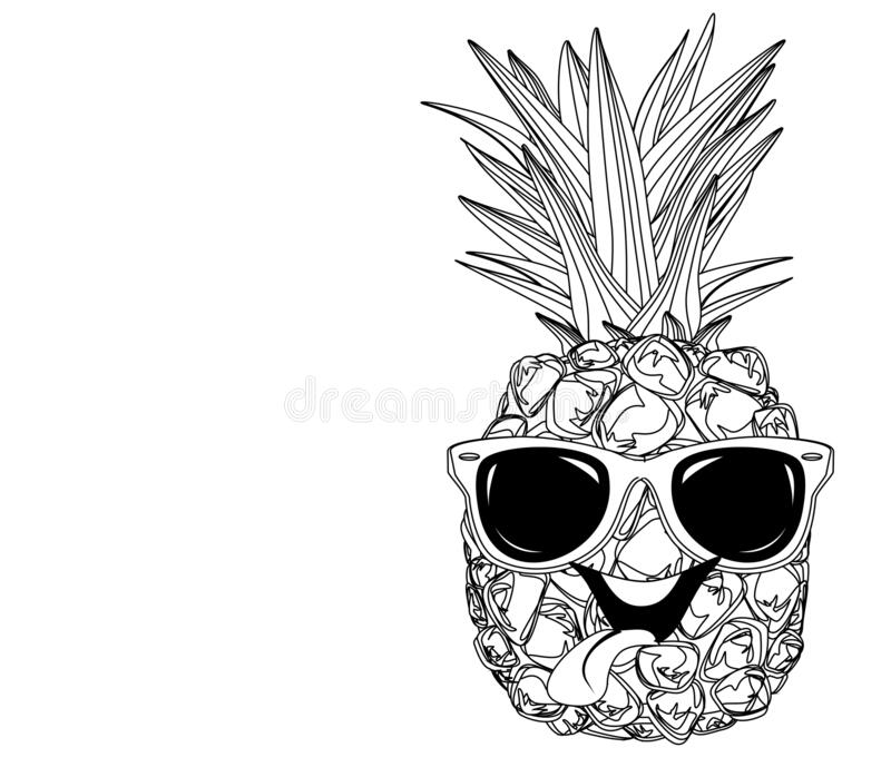 pineapple with sunglasses coloring page coloring pineapple stock illustrations 571 coloring coloring with pineapple sunglasses page