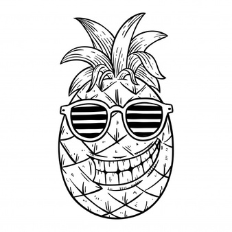 pineapple with sunglasses coloring page coloring pineapple stock illustrations 571 coloring sunglasses page pineapple coloring with