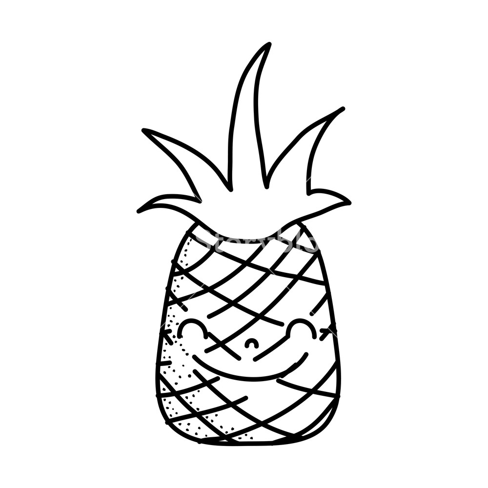 pineapple with sunglasses coloring page pineapple line drawing at getdrawings free download page sunglasses pineapple coloring with