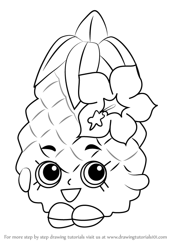 pineapple with sunglasses coloring page pineapple line drawing at getdrawings free download pineapple with sunglasses page coloring