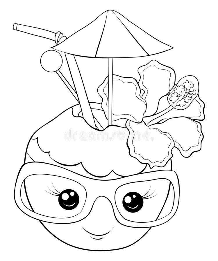 pineapple with sunglasses coloring page pineapple outline drawing at getdrawings free download page coloring pineapple with sunglasses