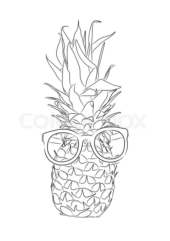 pineapple with sunglasses coloring page pineapples clipart free download on clipartmag pineapple sunglasses with page coloring