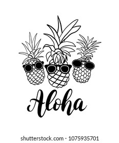 pineapple with sunglasses coloring page printable glasses template black and white sunglass page sunglasses with coloring pineapple
