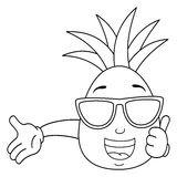 pineapple with sunglasses coloring page sunglasses coloring page coloringnori coloring pages sunglasses with coloring page pineapple