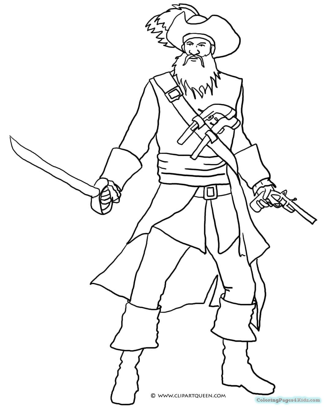 pirate coloring coloring page pirate gunsmith pirate coloring