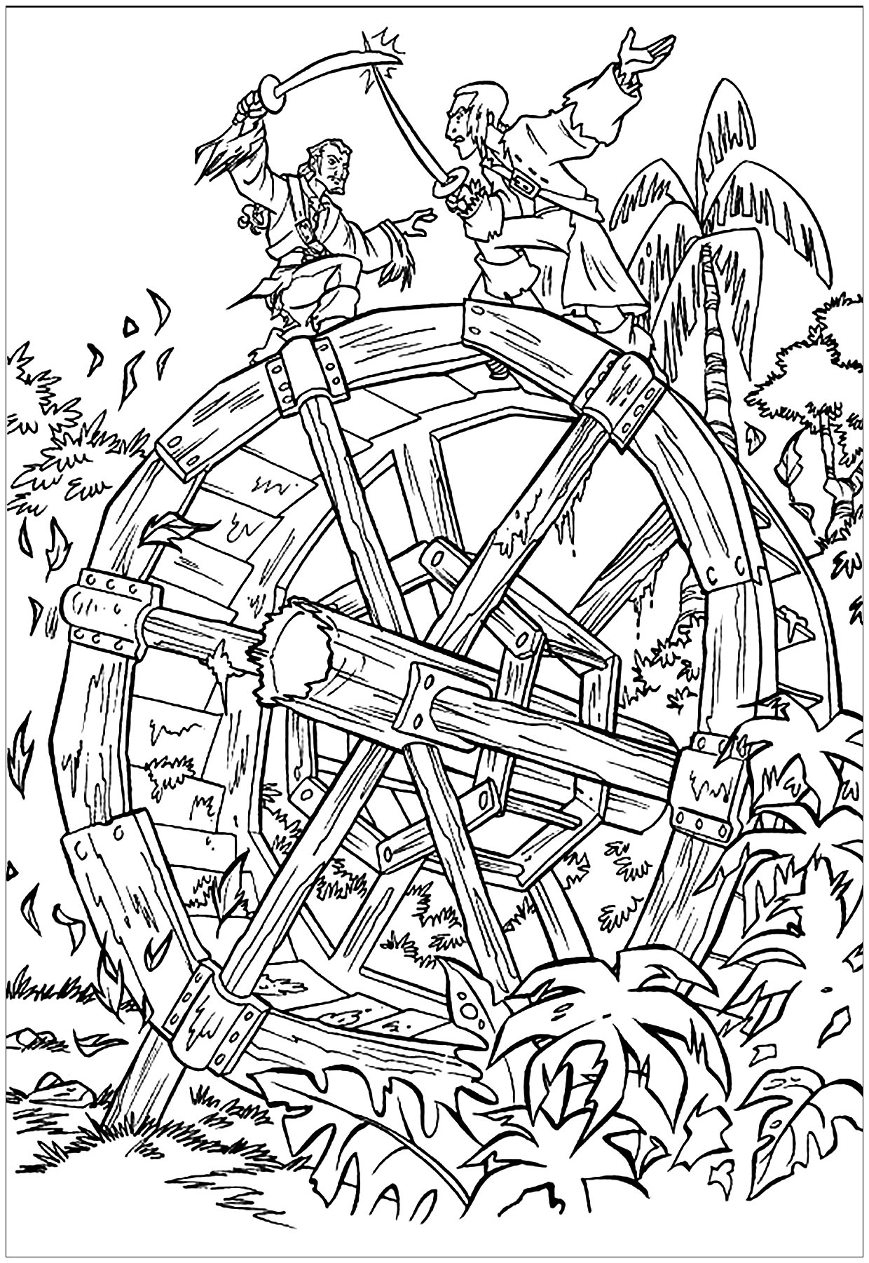 pirate coloring pages coloring page pirate in a battle pirate pages coloring