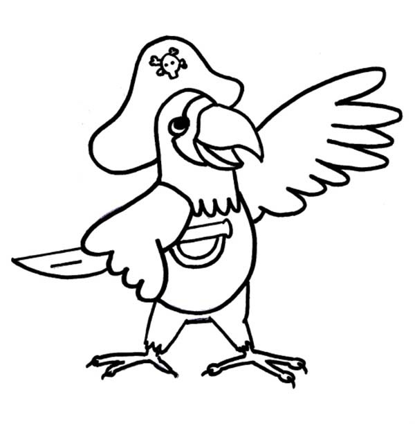 pirate parrot coloring pages parrot coloring book page stock vector illustration of pages pirate coloring parrot