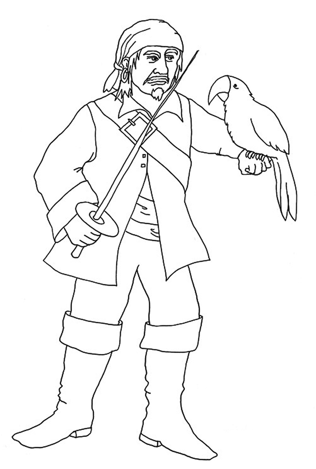 pirate parrot coloring pages pirate coloring pages parrot coloring pirate pages