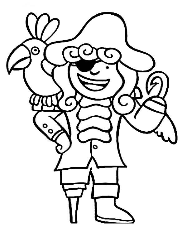pirate parrot coloring pages pirate parrot coloring page sketch coloring page parrot coloring pirate pages