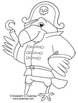 pirate parrot coloring pages pirate parrot coloring pages at getcoloringscom free coloring pages pirate parrot