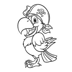 pirate parrot coloring pages pirate parrot coloring pages at getcoloringscom free parrot pages pirate coloring