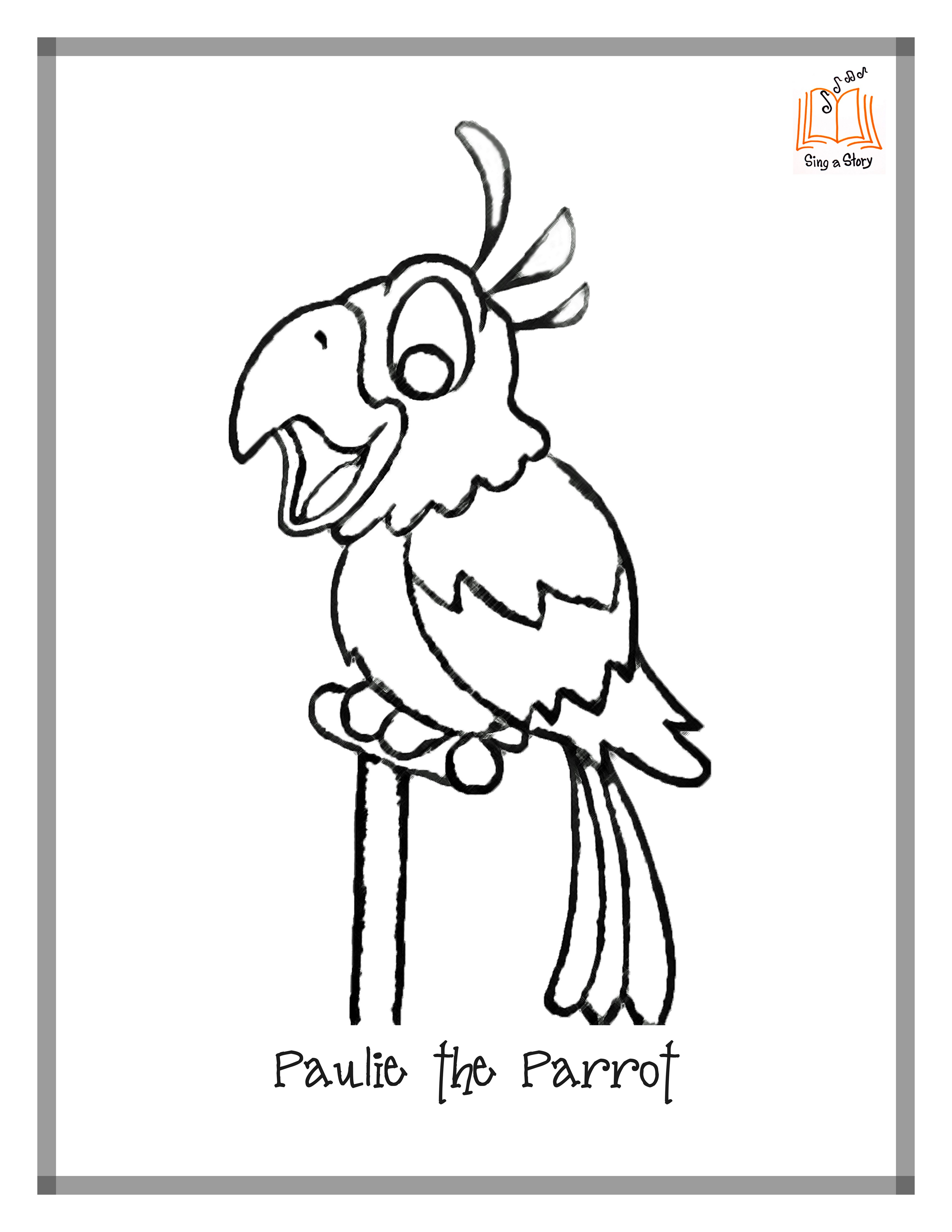 pirate parrot coloring pages pirate parrot drawing at getdrawings free download pages parrot pirate coloring