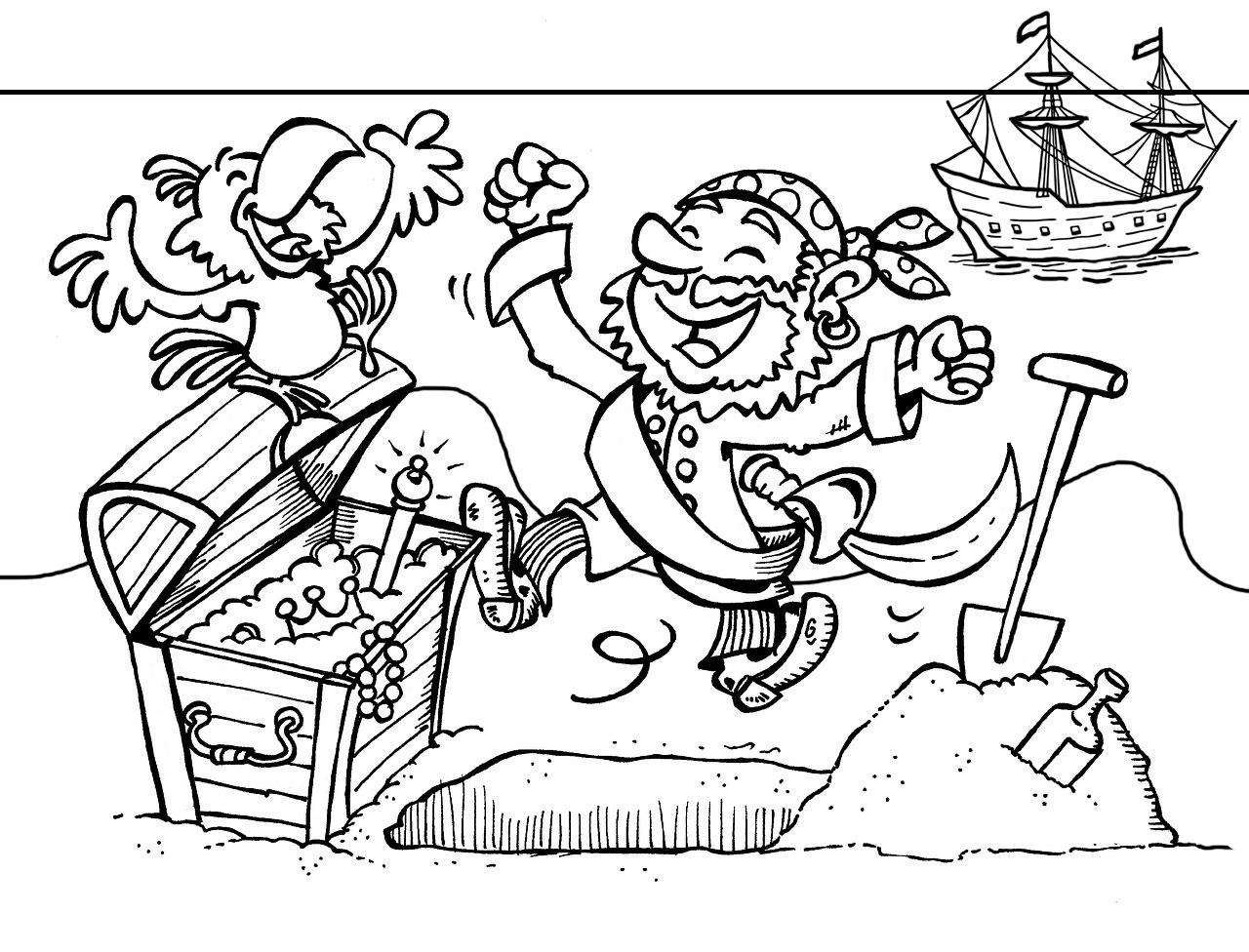 pirate parrot coloring pages pirate treasure colouring page rooftop post printables pages pirate parrot coloring
