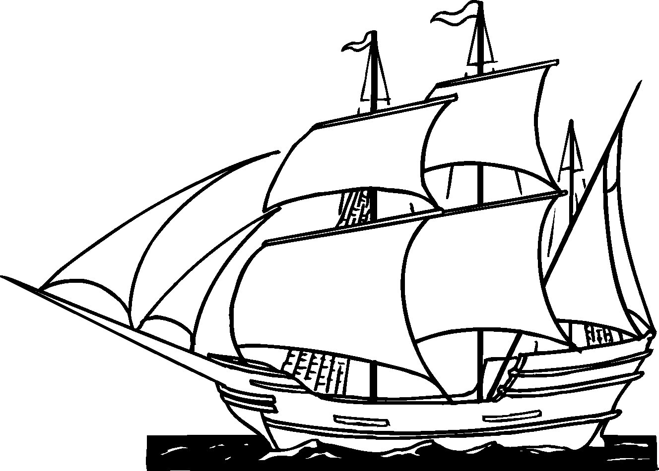 pirate ship to color pirate coloring pages pirate color to ship
