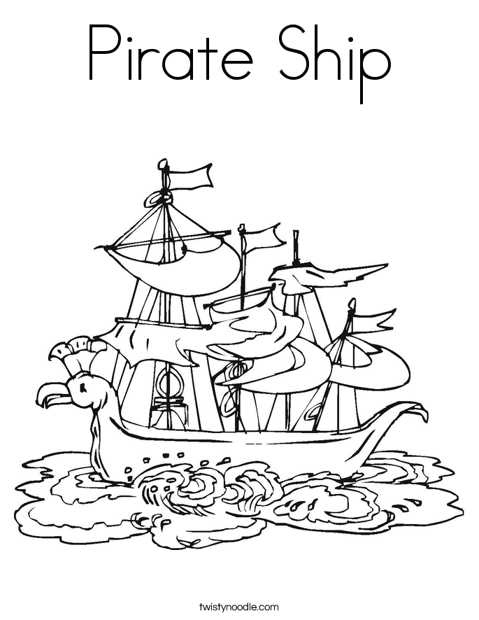 pirate ship to color pirate ship coloring page twisty noodle pirate color to ship