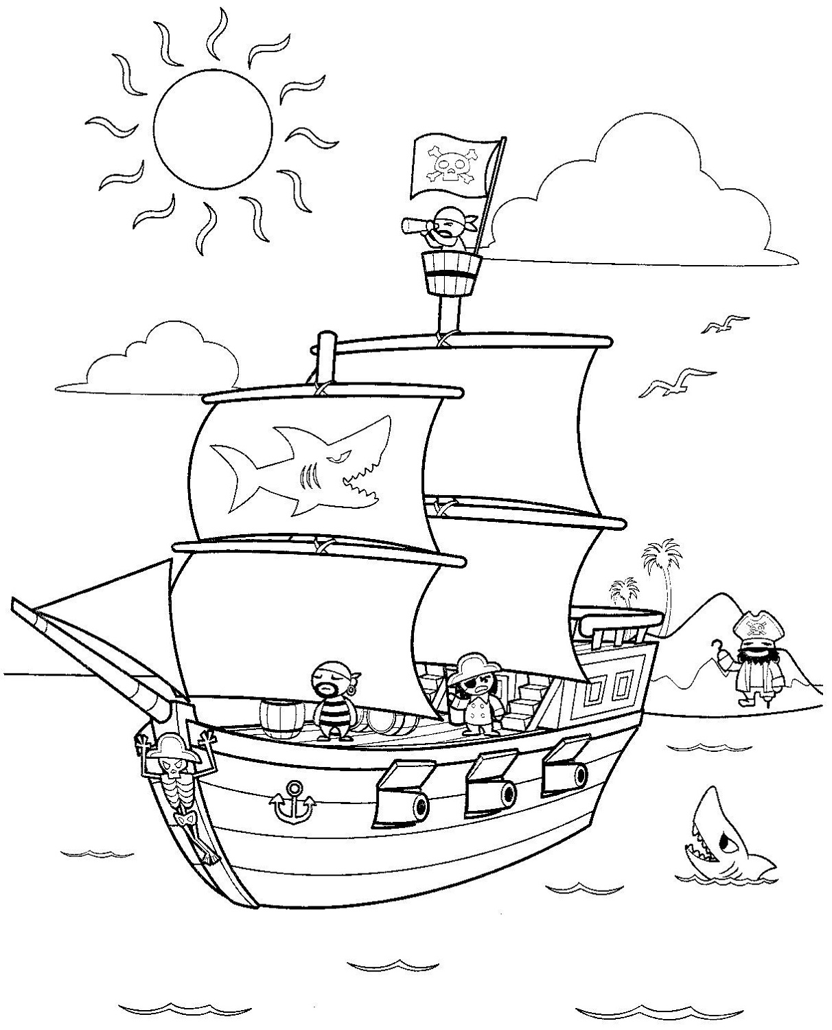 pirate ship to color pirate ship pictures for kids activity shelter to pirate color ship