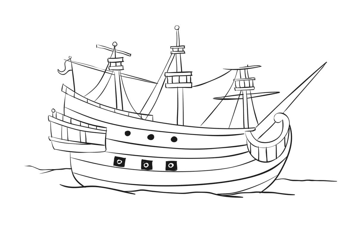 pirate ship to color pirates voyage coloring sheet pirate ship pirates ship color to pirate